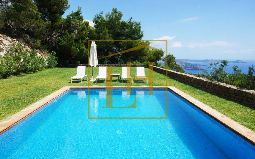 Villa con vistas a Formentera en Cala Llentrisca, Es Cubells (L.T.)
